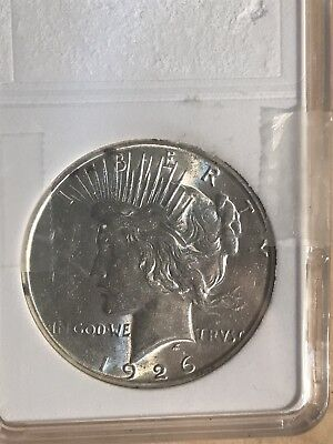 1926 S Peace Dollar Great Shape And Luster  Great Bargain Tough Date