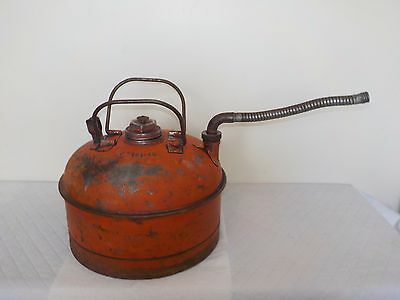Vintage Rare Eagle 2-1/2 Gallon Gas Can Brass Swivel Spout and 2 Handles