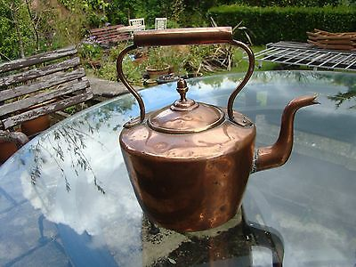 "8"" Vintage Heavy Copper Kettle"
