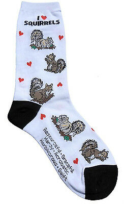 I love Squirrels (3143) Women Socks Cotton New Gift Fun Unique Fashion