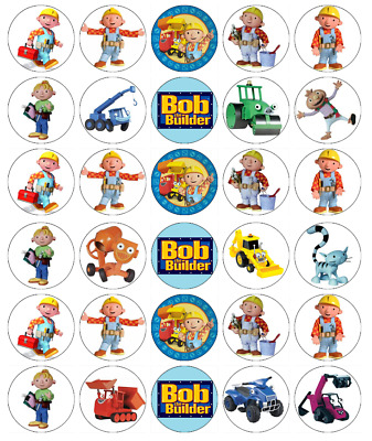 20 Bob the builder  edible rice paper cup cake toppers,