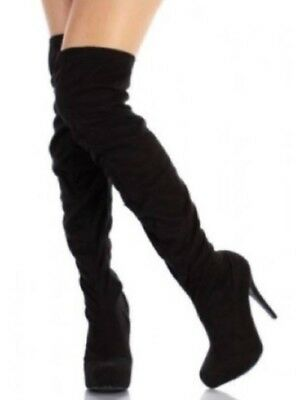 Charles by Charles David over the knee micro suede black boots womens sz 8