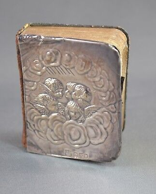 EDWARDIAN STERLING SILVER 5 ANGELS CHESTER, 1908 MINIATURE BOOK of COMMON PRAYER