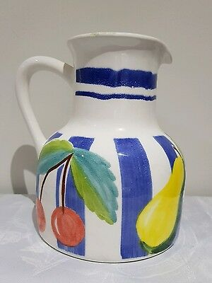 VTG Hand Painted Fruit Jar Ceramica Arte Bello - Made in MEXICO Water Wine Vase