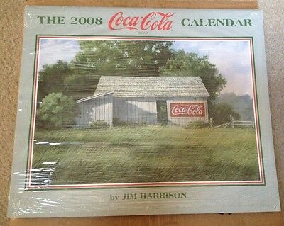 2008 COCA-COLA Calendar by JIM HARRISON - NEW IS PLASTIC