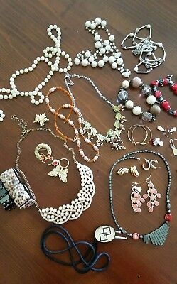 Jewellery assortment. Deceased estate. Necklaces,  earrings,  bangles etc.