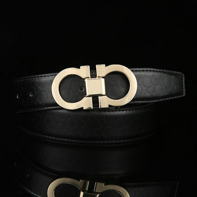 Belt For Men/Women High Quality Vintage Smooth Buckle Casual Waist Belts
