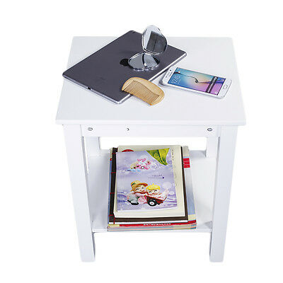 New Bedside Cabinet 1 Drawer 1 Door with 2 layers Storage Unit White