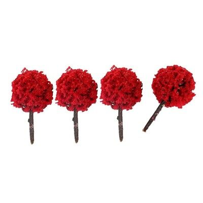50pcs 20 X 30mm N Z GAUGE SCALE RED FLOWER FRUIT TREES SHRUBS