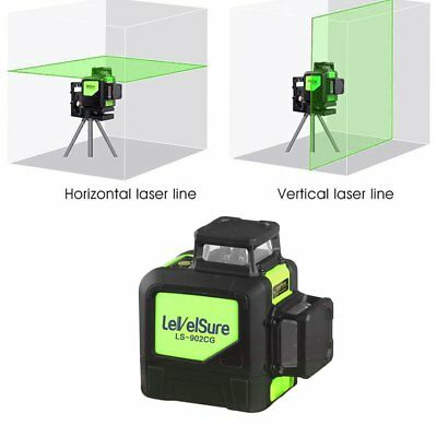 Portable Waterproof Laser Level Meter 8 Line 360°Green Infrared Laser Marking AU