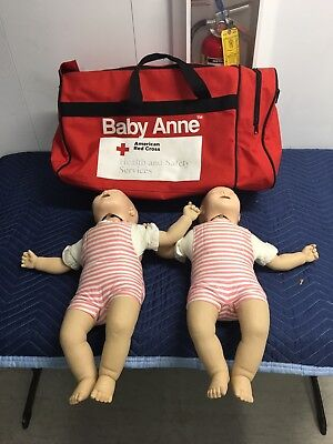 Laerdal Resusci Baby Anne lot 2 dolls infant Red Cross