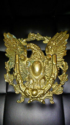 Vintage Large Cast Brass American Eagle Door Knocker  Man Cave Must!  Gorgeous!
