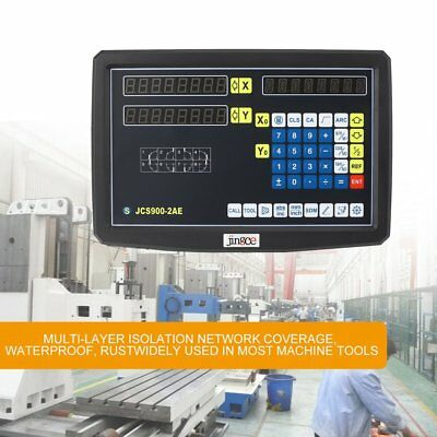 2 Axis DRO Digital Readout Display Meter F Milling Lathe Machine Linear ScaleAU~