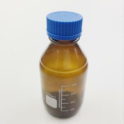 Glass Reagent Bottle With Blue Screw Cap Clear/Brown 100/250/500/1000mL ES