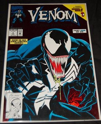 Venom #1 Lethal Protector Marvel Comics Spider-man 1993 NM. Red Foil Cover