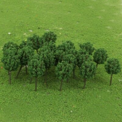 50pcs 15 X 30mm N Z GAUGE SCALE LIGHT GREEN BALL TREES SHRUBS