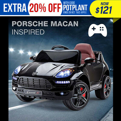 NEW ROVO KIDS Ride-On Car PORSCHE MACAN Inspired Electric Toy Battery 12V Black