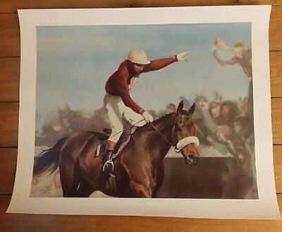 """3 Horse Prints """"Red Rum, Arkle and Desert Orchid"""" by Peter Mailer Yates, LT. ED"""