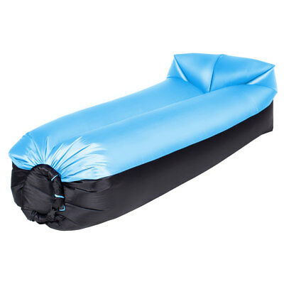 Inflatable Lazy Air Sofa Bag Lounger Beach Bed Camping Sleeping Outdoor Indoor