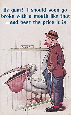 Bamforth Witty Comic No 301 Beer D Tempest Pelican P/U Watford 1916