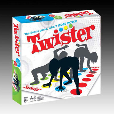 Twister Classic Funny Children and Family Fun Game with 2 More Moves Board Body