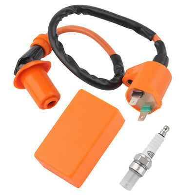 Racing Performance CDI+ Ignition Coil + Spark Plug Fit Gy6 50cc 125cc 150cc FW