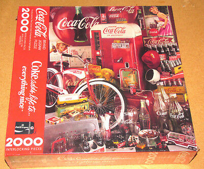 Coca Cola Jigsaw Puzzle 2000 Pieces Brand New_Coke Adds Life To Everything Nice!