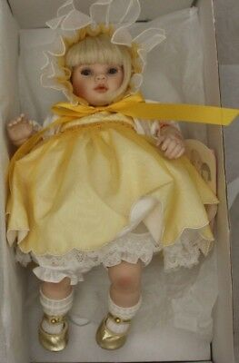 Pauline's Limited Edition Doll DAINTY DAISY 12 inch Porcelain Doll BOXED COA-207