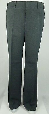 "Vtg 1980s Grey Poly Sta Press Levi's ""Action Slack"" Trousers W37 DZ33"