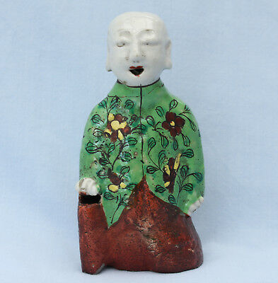 Antique 19thC. Chinese Famille Rose Porcelain Figure of a Laughing Boy