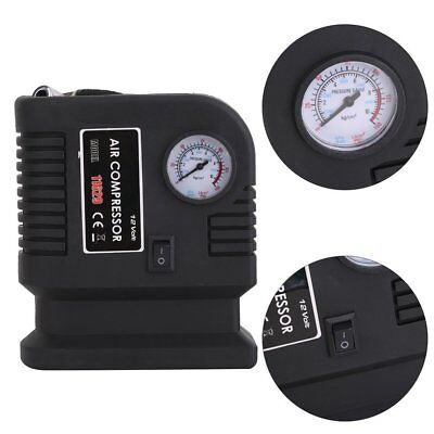 Portable 12V Car Air Compressor Pump Tire And 3 Adapter Electric Tyre Inflator C