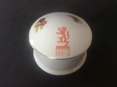 Glasgow Scottish 1938 Empire Exhibition WH GOSS Lidded Trinket Dish 38
