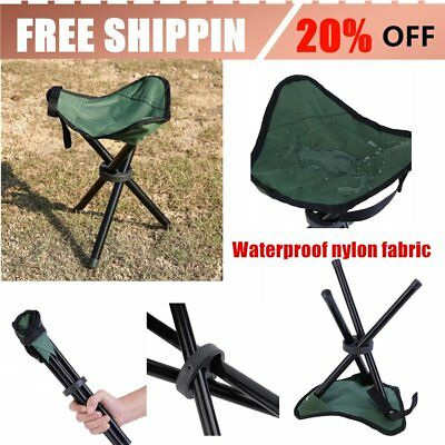 Portable Folding Hiking Backpacking Tripod Stool For Outdoor Camping Fishing AU