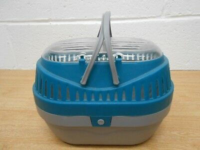 Small animal pet ?hamster, ?pet rat, pod carrier 28cms X 21cms, blue and grey