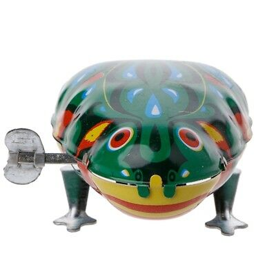 Retro Vintage Metal Wind-up Jumping Frog Clockwork Tin Toys Classic Party Favor