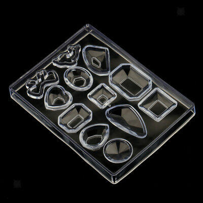 Cabochon Silicone Pendant Mold for Resin Casting Earring Necklace Making DIY