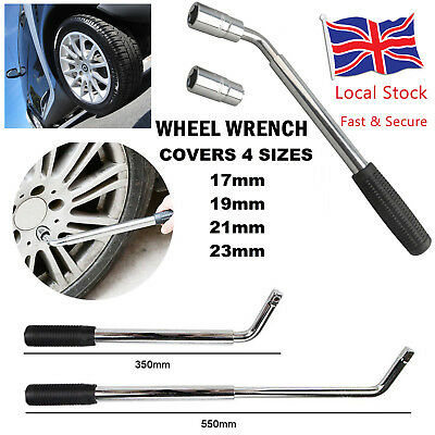 Car Van Wheel Lug Nut Wrench Brace Socket Tire Remover 17 19 21 23mm Extendable