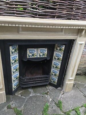 victorian fireplace insert and mantlepiece
