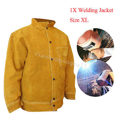 Professional Cowhide Leather Welder WELDING JACKET XL Arm Protecting Useful