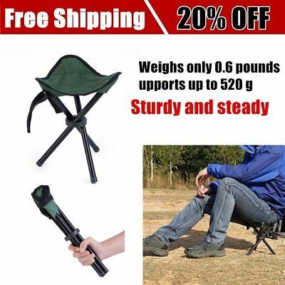 Portable Folding Hiking Backpacking Tripod Stool For Outdoor Camping Fishing BTF