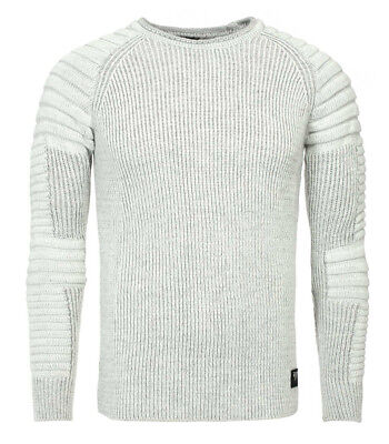 Pull fashion homme texturé Pull 549 gris