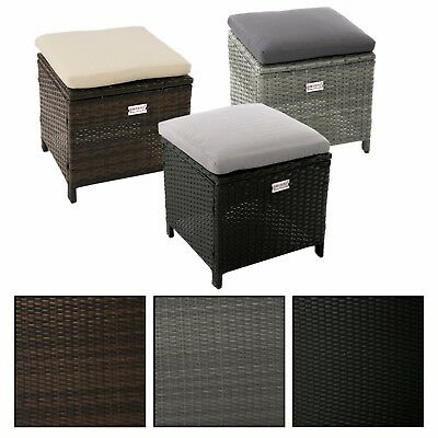 polyrattan hocker grau lounge garnitur gartenm bel. Black Bedroom Furniture Sets. Home Design Ideas