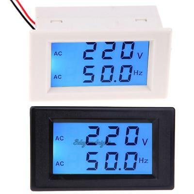 AC Voltmeter Frequency AC 80-300V/ 50Hz/60Hz Digital LCD Voltage Meter 110V 220V