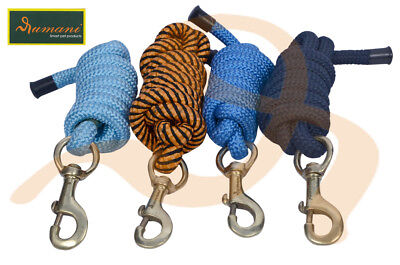 Rumani Quality Poly Blend Core Horse Equestrian Lead Rope With Brass Snap