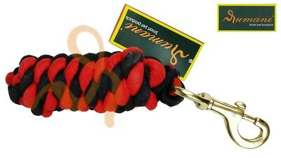 Rumani Quality Cotton Braided Horse Equestrian Lead Rope With Brass Snap