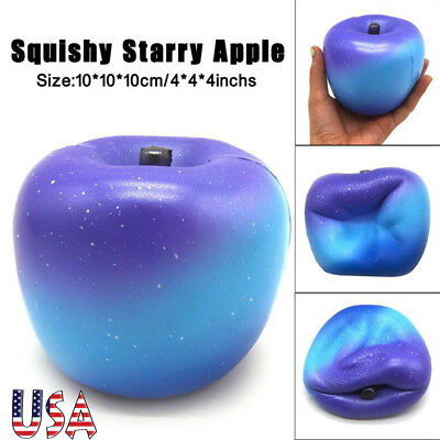10cm Starry Apple Cream Scented Squishy Slow Rising Squeeze Strap Kids Toy Gifts