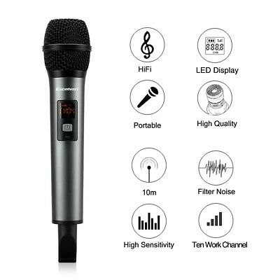 Professional Wireless Bluetooth Microphone KTV Karaoke For Smartphone Tablet TV