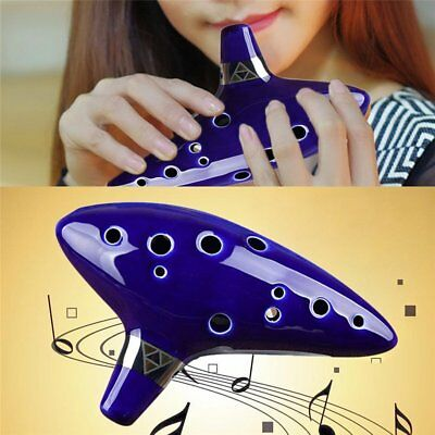 12 Hole Keramische Alto C Legend Of Zelda Ocarina Flute With Cord Hand rope AU