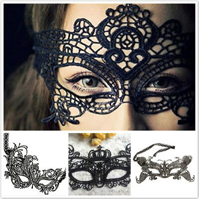 New Black Lace Sexy Stunning Eye Mask Ball Party Halloween Cosplay Costume