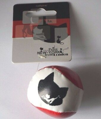 Soft Catnip Cat Ball Hackey Sack Style Cat Toy Chase Bat And Play Faux Leather